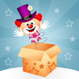 Clown in the box Royalty Free Stock Photo