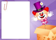 Clown in the box Royalty Free Stock Images