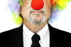 Clown in business suit Stock Images