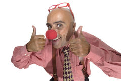Clown businessman Stock Photo