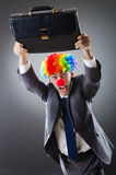 Clown businessman - funny business concept Royalty Free Stock Photos