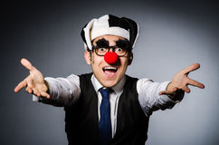 Clown businessman in funny Stock Image