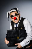 Clown businessman Stock Image