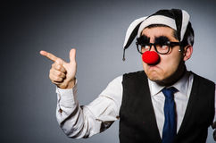 Clown businessman Royalty Free Stock Images