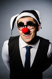 Clown businessman in funny Stock Photos