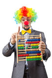 Clown businessman isolated Stock Photography