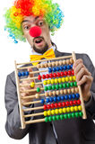 Clown businessman isolated Royalty Free Stock Photos