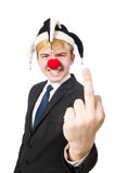 Clown businessman Stock Photos