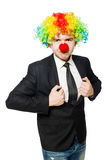 Clown businessman Stock Image