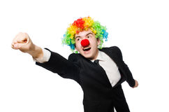Clown businessman Royalty Free Stock Image