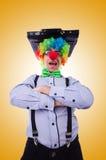 Clown businessman isolated on white Stock Photos