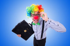 Clown businessman isolated on white Royalty Free Stock Images