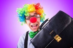 Clown businessman isolated on white Royalty Free Stock Photo