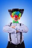 Clown businessman isolated on white Royalty Free Stock Image