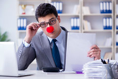 The clown businessman in the office Royalty Free Stock Photo