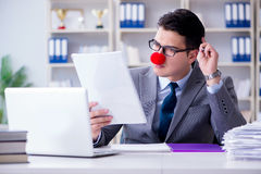 The clown businessman in the office Royalty Free Stock Photos