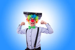 Clown businessman Stock Images