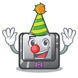 Clown button F on a keyboard cartoon. Vector illustration royalty free illustration