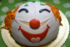 Clown Cake. A beautifull party cake with a face of a clown Stock Photography