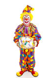Clown With Cake - Full Body royalty free stock image