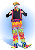 A clown is in a cap Royalty Free Stock Image