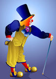 Clown in a cap Royalty Free Stock Images