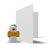 Clown and card Stock Photography