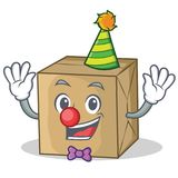 Clown cardboard character character collection Royalty Free Stock Image