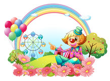 A clown in the carnival with a garden Stock Images