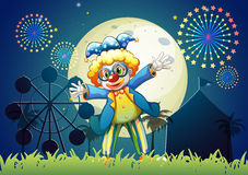 A clown at the carnival. Illustration of a clown at the carnival Stock Photo