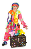 Clown with carpetbag Stock Image