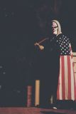 Clown Carrying American Flag Royalty Free Stock Photo