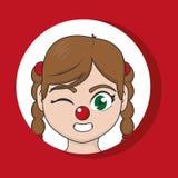 Clown cartoon design. Clown cartoon of circus comedy carnival and fun theme Vector illustration royalty free illustration