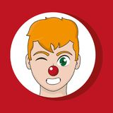 Clown cartoon design. Clown cartoon of circus comedy carnival and fun theme Vector illustration vector illustration