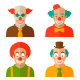 Clown cartoon face Stock Images