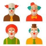 Clown cartoon face. Funny clown cartoon face, vector circus illustration, smile scary joker vector illustration