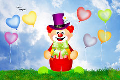 Clown cartoon. Illustration of clown in the circus Stock Images