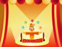 Clown cartoon illustration Royalty Free Stock Photo