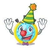 Clown cartoon stopwatch on for the race. Vector illustration stock illustration