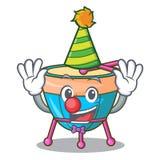 Clown cartoon timpani isolated on the mascot. Vector illustration stock illustration