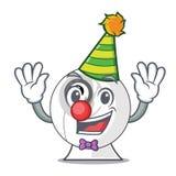 Clown cartoon webcam in funny that shape. Vector illustration vector illustration