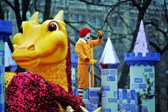 Clown in Castle at Toronto Santa Claus Parade stock image
