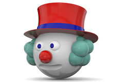 Clown Character - 3D Royaltyfri Fotografi