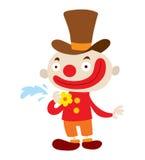 Clown character vector cartoon. Clown character performing different fun activities vector cartoon illustrations. Clown character funny happy costume cartoon stock illustration