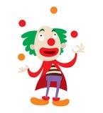 Clown character vector cartoon. Clown character performing different fun activities vector cartoon illustrations. Clown character funny happy costume cartoon vector illustration