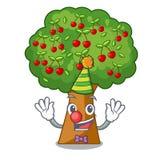 Clown cherry tree next to cartoon house. Vector illustration stock illustration