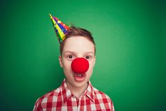 Clown child Royalty Free Stock Photos