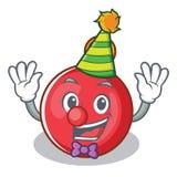 Clown Christmas ball character cartoon. Vector illustration Stock Illustration