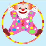 Clown in circle Royalty Free Stock Image