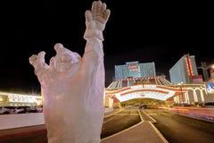 Clown at Circus Circus Hotel and Casino entrance at night - Las Vegas, Nevada, USA Royalty Free Stock Photography
